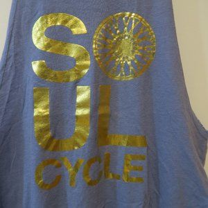 Soul Cycle Blue and Gold Tank Top